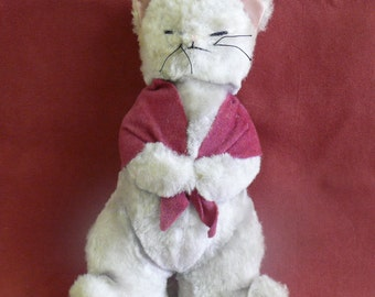 VINTAGE Musical Plush CAT =  Music Box - Collectible