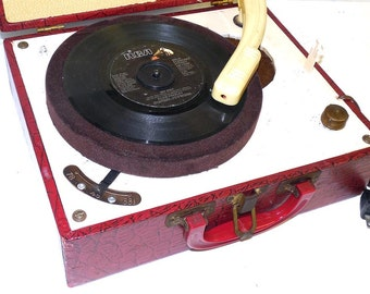1950s Majorette Record Player refurbished with Warranty