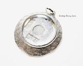 Silver Tone Photo Charm / Pendant, Vintage Jewelry