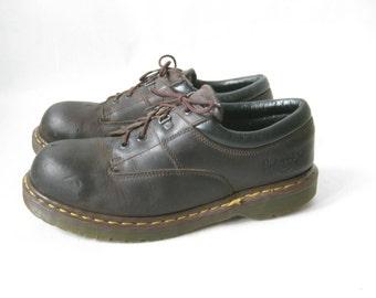 Vintage DOC MARTEN Steel Toe Lace Up Oxfords. Size 10 UK// Size 11 Mens U.S.