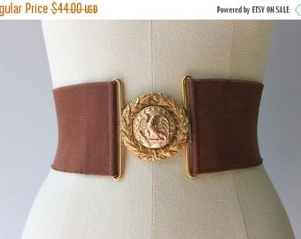 STOREWIDE SALE 1950s Waist Cincher / Vintage 50s Belt / 1940s 1950s Wide Military Cinch Belt