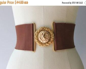 STOREWIDE SALE 1950s Waist Cincher / Vintage 50s Belt / 1940s 1950s Wide Military Cinch Belt