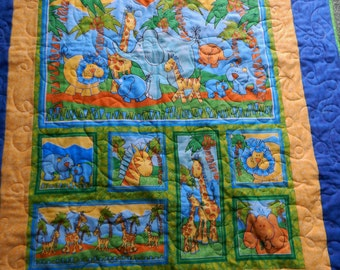 Jungle Animal Baby Quilt