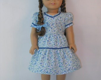 1944-1078 Blue Print Dress for Molly or Emily