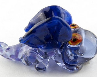 Sculptural Dragon Lampwork Glass Bead by Chase Designs