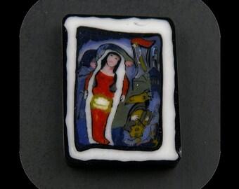 The Bride Glass Murrine Boro Coin 7 grams - 135 N
