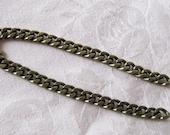 Antique Bronze Heavy Plated Flat Twist Cut Curb Chain Nickel Free 8mm x 6mm 384