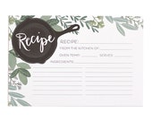 Herb Recipe Cards Set of 50 // 1canoe2 // hand illustrated