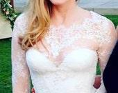 Tulip Long sleeve bridal lace top long sleeve bridal bolero ivory lace top bridal bolero jacket wedding bolero