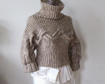 BRAIDED SHRUG modern urban in speckled amber, hand knitted shrug bolero sweater, spring fashion, cropped sweater, gift under 100 dollars