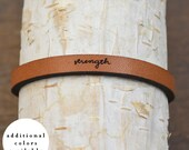 strength - adjustable leather bracelet  (additional colors available)