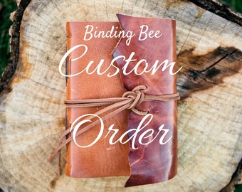 Custom Order for Peter - Leather Journal with imprint