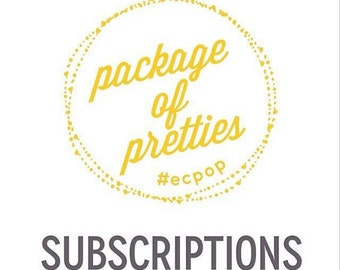 Package of Pretties Subscritpion Box Membership December January February 3 Month