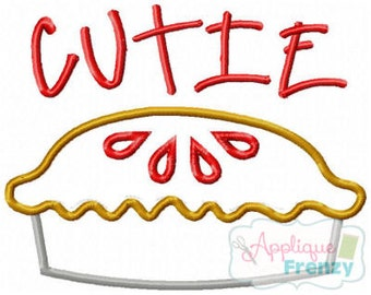 Pie Applique Design Embroidery File and Cutie Pie Design File