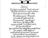 Calligraphic PSALM The Lord is my Shepherd