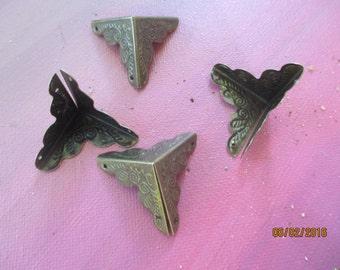 Antique Jewelry Box Corners  4 Corners  Antique Bronze Color