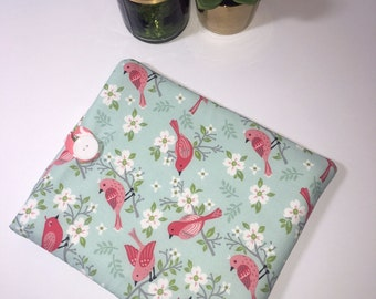 iPad Case, iPad Cover, Tablet Case, Fabric iPad Case, Gift Idea, Birds iPad Cover