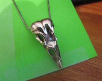 silver birds skull