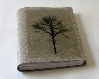 tree of strength waxed linen mid size journal