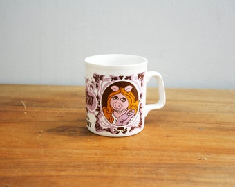 vintage 1978 70s Miss Piggy Kiln Craft Novelty Coffee Mug