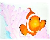 Clownfish Nemo Watercolor...