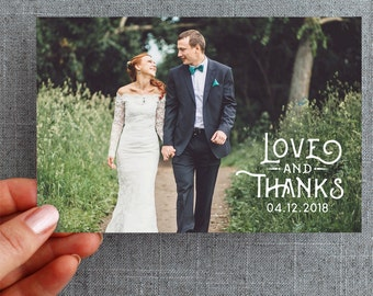 """50+ Wedding Thank you card, with photo, vintage, woodland """"Eden Marie Style"""""""