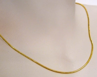 "18"" Gold  Plated Snake Chain Lobster Clasp Necklace"