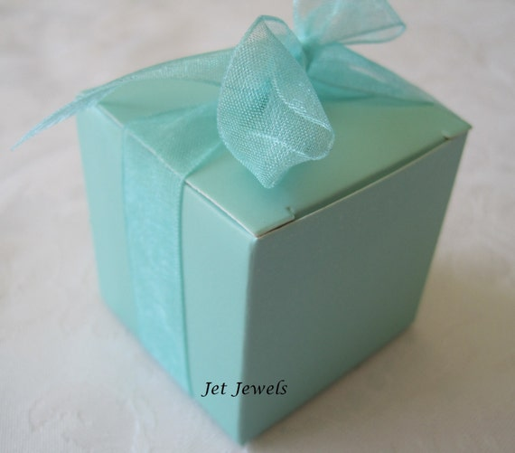 Aqua Wedding Favor Boxes : Gift boxes wedding favor aqua blue candy box