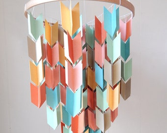 Nursery Mobile / Arrow Mobile / Paper Chandelier