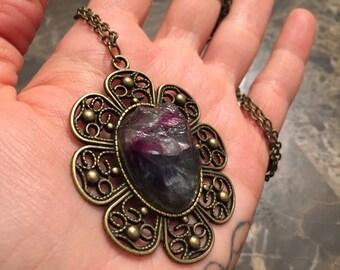 Raw Fluorite Clarity necklace
