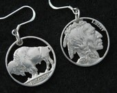 Indian Head and Buffalo Nickel earring pair Rreserved for Pam