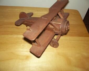 Wooden biplane/free shipping