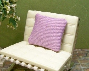 Lavender Pillow Cushion Purple 1:12 Dollhouse Miniature Inch Scale Artisan