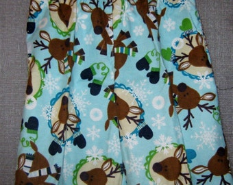 Pajama Pants-- Blue with White Snowflakes-- Size 24 Month