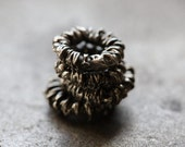 WIRE WRAPPED SPACER No. 1 .. 4 Mykonos Greek Spacer Beads 8mm (M98-4)