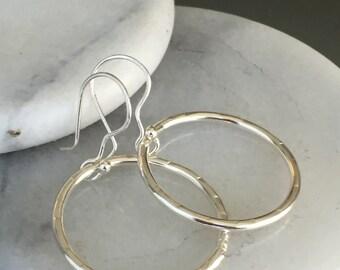 K Hoop Earrings