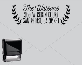 New for 2016 FREE US SHIPPING * Self Inking Return Address Stamp * Custom Address Rubber Stamp (E415)
