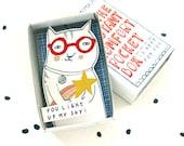 La boîte de poche confort instantané - chat avec étoile filante - vous illuminer mon ciel - égayer boîte