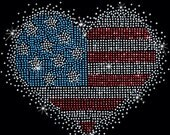 4th Of July Rhinestone Tee Shirt - Short Sleeve - Women's Patriotic USA - Sizes Small thru 3XL Plus Sizes Too - FREE Shipping - New
