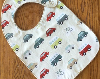 NEW...Car, Van, and Bicycle Minky  Baby/Toddler Bib