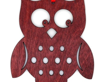 Wooden Owl Ornament