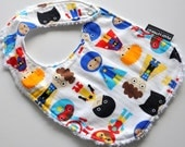 Side Snap Chenille Bib- Super Heroes - Over 160 Designer Fabrics To Choose From in My Shop -