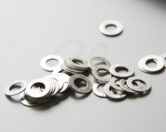 50pcs Oxidized Silver Plated Brass Base Flat OPENED Ring - Link - Loop 10x6mm (3029C-M-284)