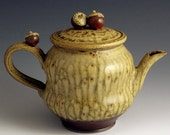 Acorn and Ash-Glazed  Teapot, SHIPPING INCLUDED