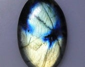 Flashy Labradorite oval cabochon, rich colors, 68.22 carats                           043-10-613
