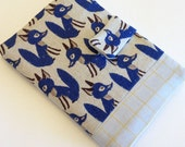 Passport cover - blue fox