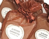 Almond Amaretto Handmade Cold Process Soap Bar, 4oz - cherry scent, phthalate free, vegan, natural,organic sustainable palm oil, organza bag