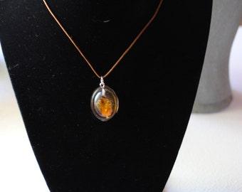 Handmade flower resin necklace