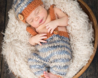 Baby Hat and Pants, Newborn Pants, Baby Hat, Photography Prop, Newborn Photo Prop