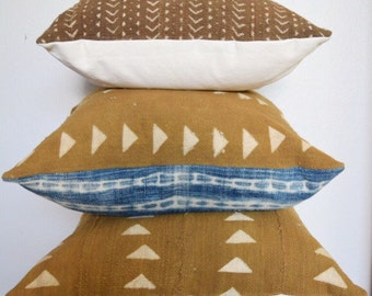 Light Brown African Mudcloth